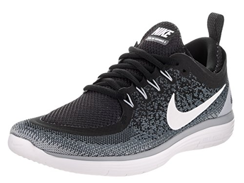 Nike Free RN Distance 2, Scarpe Running Donna, Nero (Black/white-cool Grey-dark Grey), 36.5 EU