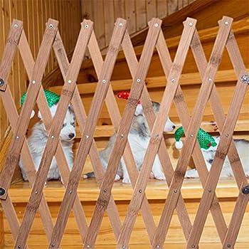 Barriere Chien,barriere Extensible Pour Chien,barriere Extensible Animaux,Porte D'Isolement Pour Animaux De Compagnie Clôture En Bois Escamotable Porte Coulissante Des Chien