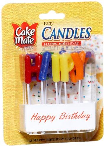 Cake Mate Happy Birthday Candles, 13 ct