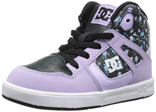 DC Shoes Rebound Se Ul, Jungen Babyschuhe - Lauflernschuhe Rosa Rose (Lilac/Black) 21.5