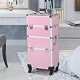 Makeup Organizer Storage Case on Wheels