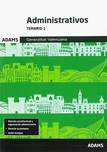 Temario 1 Administrativos Generalitat Valenciana