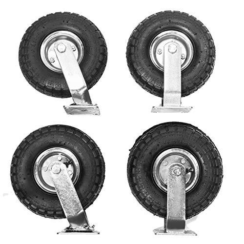 Fixed Wheel Wheels PU Wheel 2 inches in Diameter 360 Degree Turntable 132 lb Capacity