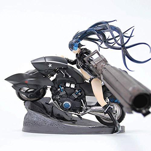 Black Silver Cannon Black Rock Shooter, personaje de anime parecido a una motocicleta, apariencia genial, con base y accesorios.Kit de garaje fabricado en material PVC para decorar colección de regalo