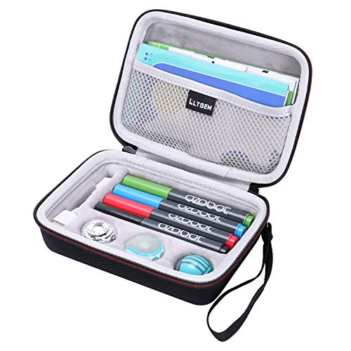 LTGEM Carrying Case for Ozobot Evo App-Connected Coding Robot - Fits USB Charging Cable / playfield / Skin / 4 Color Code Markers ( Fits a Full Robotics kit )