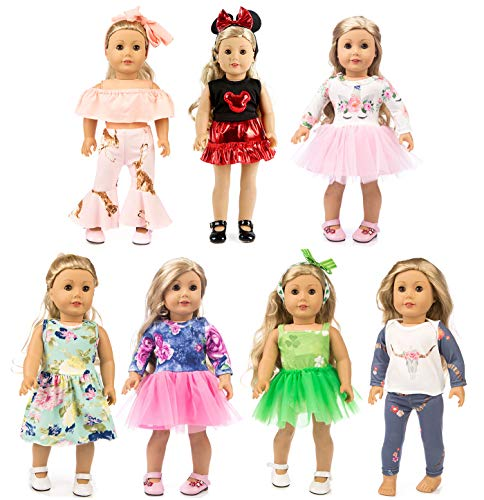 XFEYUE 7 Sets 18 inch Doll Cloth...