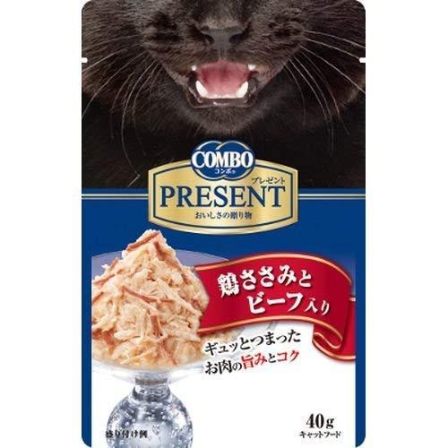 (まとめ買い)日本ペットフード コンボ プレゼント キャット レトルト 鶏ささみとビーフ入り 40g 猫用 【×42】