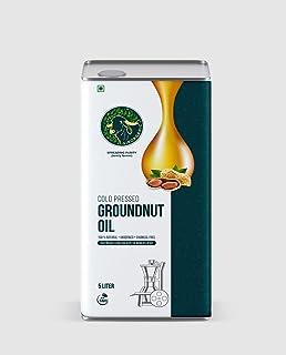 Natural Kolhu Wood Press GroundNut Virgin Oil from GirOrganic - 5000ml (Kacchi Ghani/ Cold Press Peanut Oil) (5000 ml)
