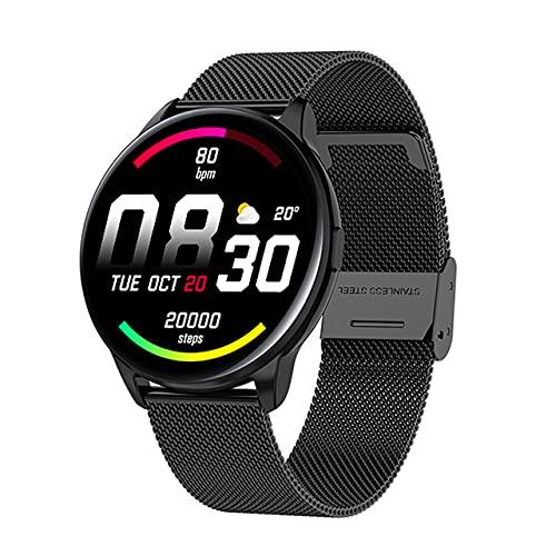 Regarder l'activité de Remise en Forme Écran Tactile Bluetooth Smartwatch Smartwatch Sports Watch Sport Podomètre Podomètre Étape Sommeil Moniteur pour Hommes Femmes Outil Noir