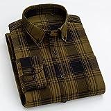 Camisas Manga Larga Hombre,Camisa De Cuadros De Algodón Camisas Casuales Camisas Clásicas De Rayas Verdes Negras A Cuadros Para Hombre Camisas Regulares Con Botones De Bolsillo Tops Regalo De Navi