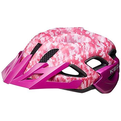 KED Status Jr. S Camouflage pink Violet - 49-54 cm - inkl. RennMaxe Sicherheitsband - Fahrradhelm Skaterhelm MTB BMX Erwachsene Jugendliche