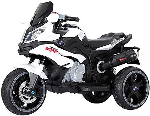 FEE-ZC Universal Kids Ride on Motorcycle, 6V Batería de 3 Ruedas Moto...