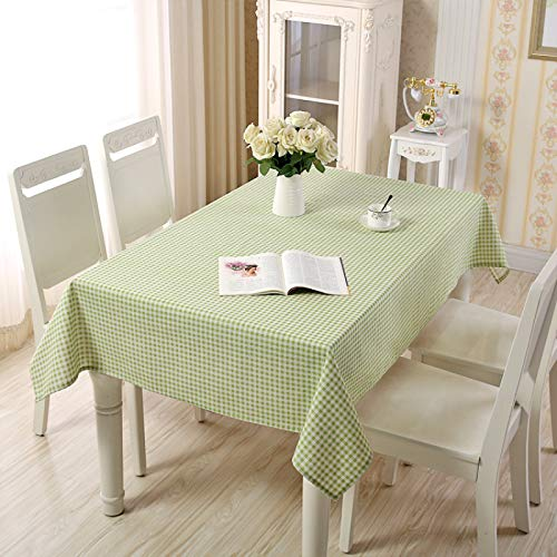 DSman Mantel Cocina Salón Limpiar. Mantel de algodón y Lino Simple celosía Pastoral