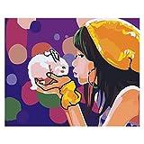 empty Pintura Digital para Adultos Y Niños DIY Pintura Al Óleo Set De Regalo Preimpreso Lienzo Artista Decoración del Hogar -16 * 20 Pulgadas, 864, Sin Marco