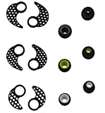Ear Tips for jaybird x2, BLUEWALL Eartips Ear Gel Ear Hook for Jaybird X, Anti-Slip Durable Silicone SML 3 Pair All in 1 Sets Replacement Ear Cushions for JayBird BlueBuds X, X2, Black