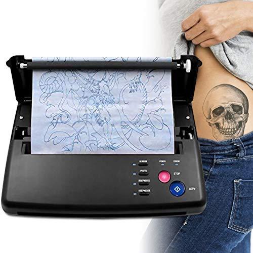 4YANG Tattoo Transfer Machine, Stampante termica per fotocopiatrici, Macchinetta per tatuaggi con stampante termica con 10 pezzi di carta a trasferimento termico Anself Carbon Thermal