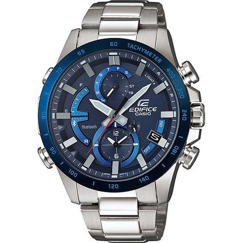 CASIO Herren Chronograph Quarz Uhr mit Edelstahl Armband EQB-900DB-2AER