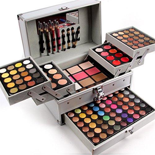 132 Farben Schmink Set Make-up Kit Geschenk Kosmetik Set, FantasyDay 94 Warme Natürliche Lidschatten Palette mit Concealer, Gesicht Puder, Rouge, Lippenstift, Augenbrauenpuder und Eyeliner #2