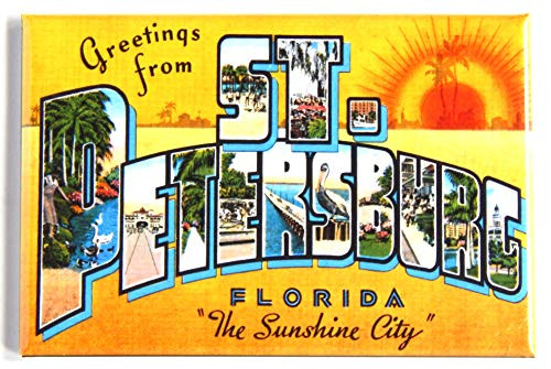 Greetings from St. Petersburg Florida Fridge Magnet (2 x 3 inches) style B