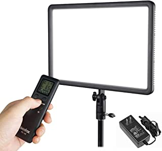Godox LEDP260C CRI95+ TLCI94+ 30W Ultra-Thin Lightweight Adjustable LED Video Light, 3300K-5600K Continuous Lighting Panel with RC-A5 Remote Control Compatible for DSLR Cameras,Camcorders,Shooting