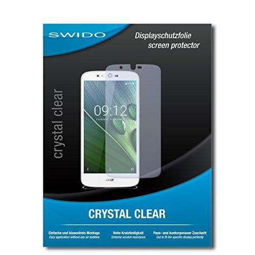 SWIDO Schutzfolie für Acer Liquid Zest Plus [2 Stück] Kristall-Klar, Hoher Festigkeitgrad, Schutz vor Öl, Staub & Kratzer/Glasfolie, Bildschirmschutz, Bildschirmschutzfolie, Panzerglas-Folie