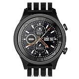 intelligente orologio for uomini e donne fitness vigilanza dell'inseguitore touch screen ip68 impermeabile orologio sportivo multifunzionale promemoria orologi intelligenti per, in bianco e nero peng