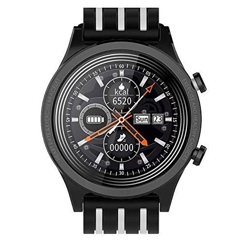 Reloj inteligente for hombres y mujeres rastreador de ejercicios reloj de la pantalla táctil IP68 a prueba de agua recordatorio reloj deportivo multifuncional Relojes inteligentes para, blanco y negro
