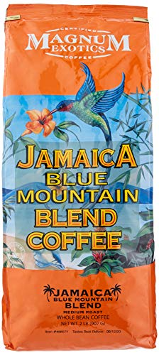 Jamaica Blue Mountain Coffee Whole Bean Blend 1 paquete 2 libras (907 g)