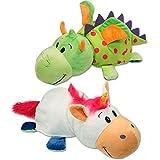 Glop Games 599386031 - Peluche dragón / Unicornio flipazoo