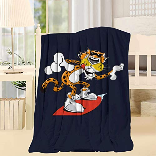 RGSHDS Ch-Ester Ch-eetah Cartoon Throw Soft All Season Fluffy Blanket, Lightweight Microfiber Blankets for Bed Sofa Living Room Throw 50x60inch