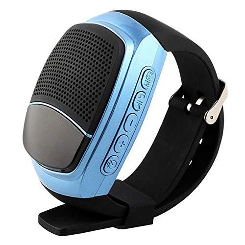 Fransande - Reloj de altavoz B90, altavoz inteligente, portátil, multifuncional, color azul