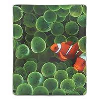 マウスパッド カクレクマノミ レーザー&光学マウス対応 防水/洗える/滑り止め サイズ:18 x 22 x 0.3 cm