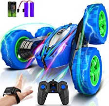 Remote Control Car Gesture Sensing RC Stunt Car Vehicle Toy Stunt Truck 4WD 2.4GHz Double Sided 360°Rotating with LED Lights Rechargeable Battery Birthday Gift for Kids Boy 3+ Year Old 2021 Upgrade