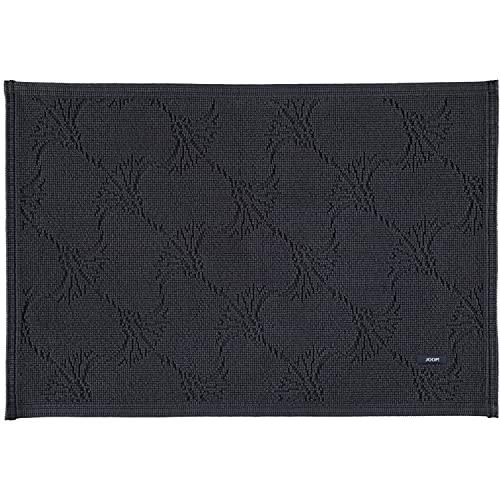 Joop! 085 - Tapis de bain design New Cornflower, Coton, anthracite, 60x90 cm