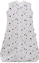 Saco de dormir para bebé, verano, niña, primavera, pijama de algodón fino con estrellas recién nacidas – 0,5 tog. blanco Estrellas blancas. Talla:150CM:6-10Jahre