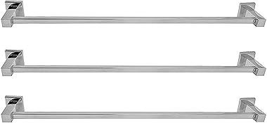 Klaxon Stainless Steel Bathroom Towel Holder - Silver (3 Piece)