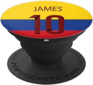 Seleccion Colombiana James Pop Socket Colombia Soccer team - PopSockets Grip and Stand for Phones and
