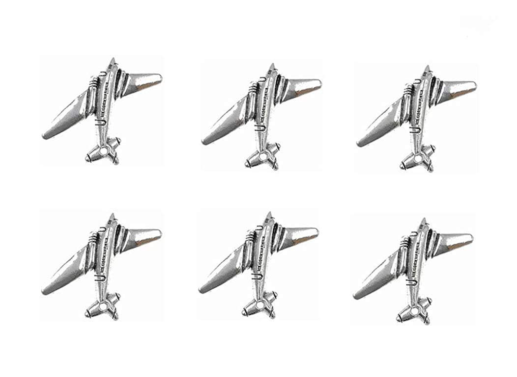 Kinteshun Airplane Warplane Charm Pendant for DIY Jewelry Making Accessaries(30pcs,Antique Silver)