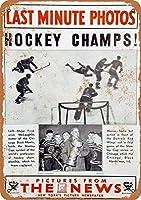 Hockey Champs ティンサイン ポスター ン サイン プレート ブリキ看板 ホーム バーために