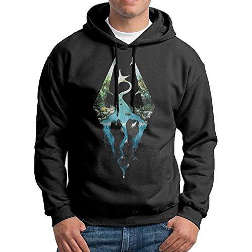 NR Skyrim Logo Mens Pullover Adult Hooded Sweatshirt
