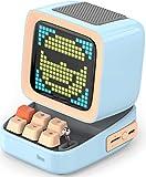 Divoom Ditoo Pixel Art Altavoz Bluetooth Multifuncional, Altavoz portátil Retro con Pantalla LED RGB, Teclado mecánico, Reloj Despertador Inteligente, Compatible con Tarjeta TF y Radio (Blue)