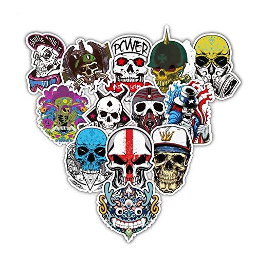XXCKA Mixed Skull Cool Street Style Aufkleber für Laptop Auto Snowboard Skateboard Telefon Fahrrad Aufkleber Mode Aufkleber 52Pcs / Lot