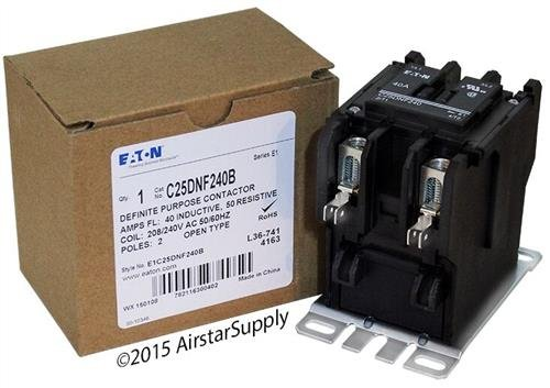 Eaton/Cutler Hammer C25DNF240B 50mm DP Contactor, 2-Pole, 40 Amp, 240 VAC Coil Voltage