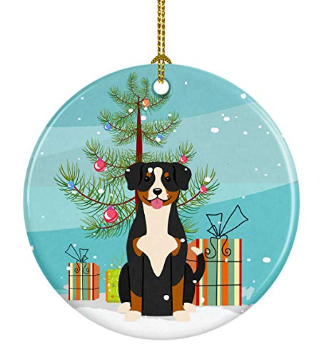 Caroline's Treasures Merry Christmas Tree Entlebucher...