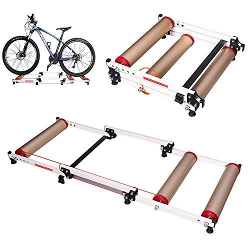 Kly Fietstrainer, opvouwbare rol, voor indoor training, wielrennen, stand, training, voor mountainbikes en racefietsen van 16 – 27 inch