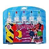 Essort Tie-Dye Kit One-Step Kit Tinte para Ropa 5 Colores para Disfraz para Niño, Tela Pinturas, 4 Pares de Guantes de Vinilo