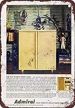 7Polar Bear& 1955 Admiral Hi-Fi Radio Phonograph Wall Decor Sign 8x12 Inches Metal Tin Sign Decor Iron Painting