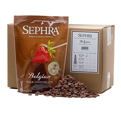 Sephra Belgian Milk Chocolate, Fondue Chocolate Belgium, Kosher Dairy, Gluten and Trans Fat Free Belgian Chocolate for Chocolate Fountains, Belgian Chocolate Fondue, Chocolate Chips for Baking, 20 LBS