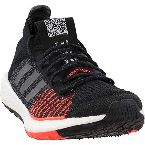 adidas Men's PulseBoost HD Running Shoes Core Black/Grey/Solar Red 9