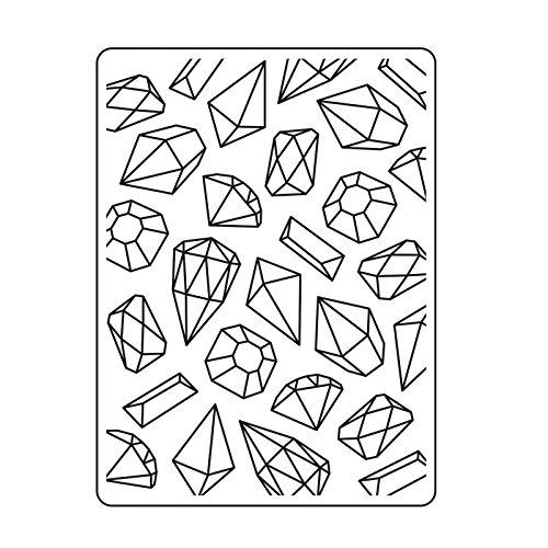 Darice Embossing Folder Prägefolder-Schablone, Edelsteine-Gems-10,8 x 14,6 cm, Plastic, transparent, 10.8 x 14.6 x 0.11 cm